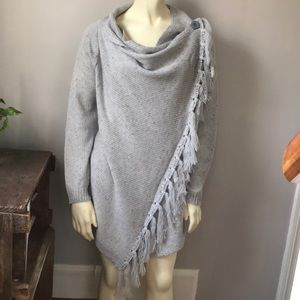 Handmade knitted sweater wrap